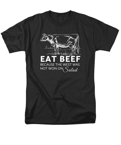 Eat Beef Men's T-Shirt  (Regular Fit) by Nancy Ingersoll