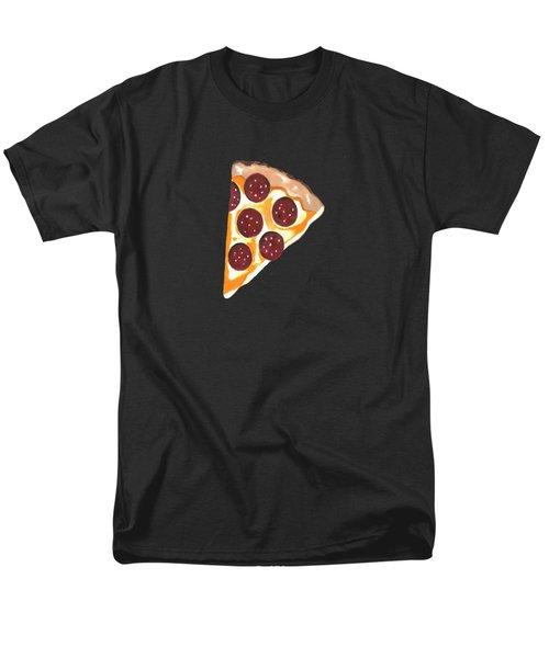 Men's T-Shirt  (Regular Fit) featuring the mixed media Eat Pizza by Kathleen Sartoris
