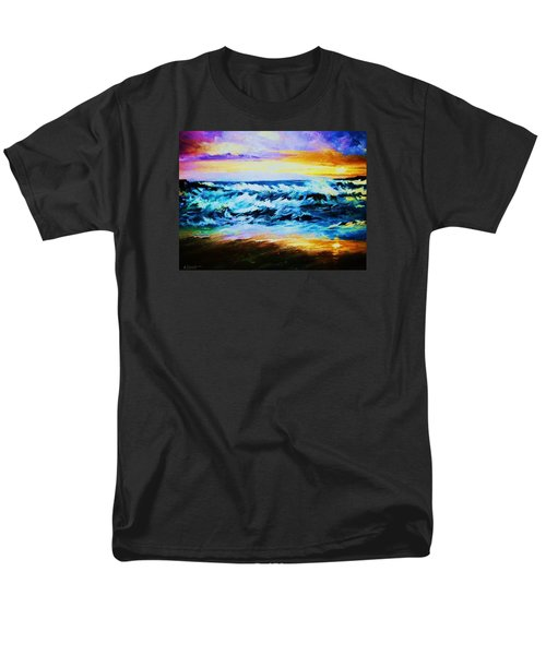 Men's T-Shirt  (Regular Fit) featuring the painting Ebb Tide At Sunset by Al Brown