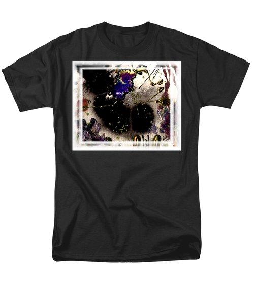 Men's T-Shirt  (Regular Fit) featuring the mixed media Ebony Nights by Angela L Walker