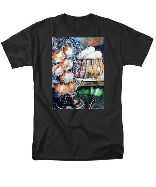 Eggs And Onions In The Larder  Men's T-Shirt  (Regular Fit) by Trudi Doyle