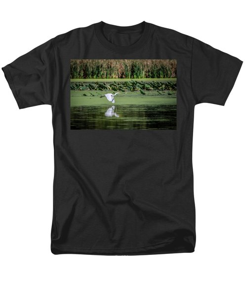 Egret Over Wetland Men's T-Shirt  (Regular Fit)