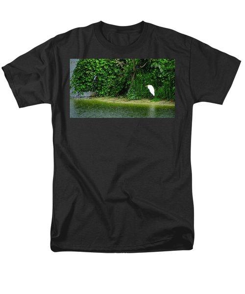 Egret Wakodahatchee Florida Wetlands Men's T-Shirt  (Regular Fit) by David Mckinney