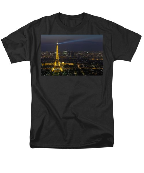 Eiffel Tower At Night Men's T-Shirt  (Regular Fit) by Sebastian Musial