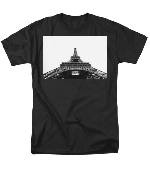 Men's T-Shirt  (Regular Fit) featuring the photograph Eiffel Tower Perspective  by MGL Meiklejohn Graphics Licensing