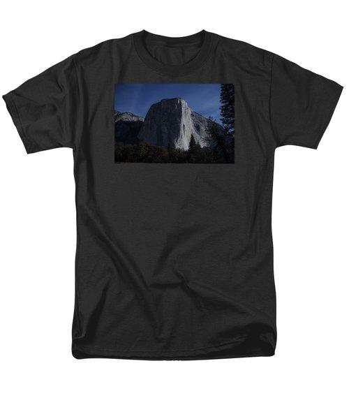 El Capitan In Moonlight Men's T-Shirt  (Regular Fit) by Michael Courtney