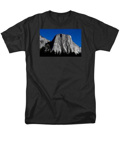 El Capitan Under A Full Moon Men's T-Shirt  (Regular Fit) by Rick Furmanek