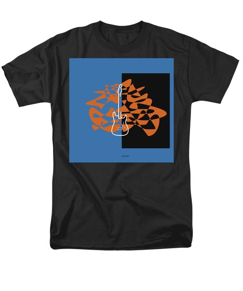 Electric Guitar In Blue Men's T-Shirt  (Regular Fit) by David Bridburg