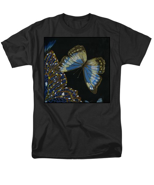 Men's T-Shirt  (Regular Fit) featuring the painting Elena Yakubovich - Butterfly 2x2 Top Right Corner by Elena Yakubovich