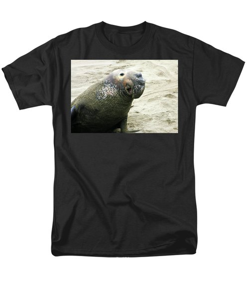 Men's T-Shirt  (Regular Fit) featuring the photograph Elephant Seal by Anthony Jones