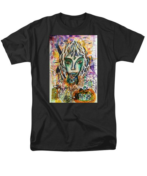 Men's T-Shirt  (Regular Fit) featuring the mixed media Elf by Mimulux patricia no No