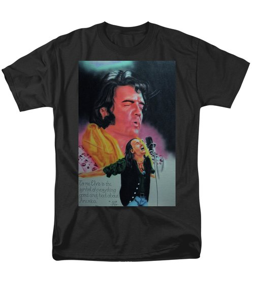 Men's T-Shirt  (Regular Fit) featuring the painting Elvis And Jon by Thomas J Herring