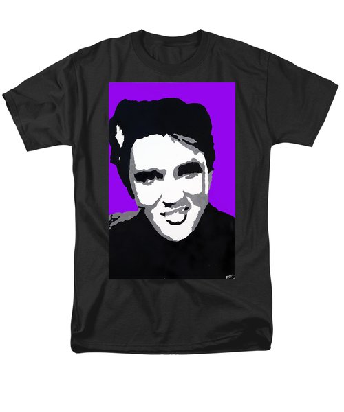Men's T-Shirt  (Regular Fit) featuring the drawing Elvis Don't Live Here Anymore by Robert Margetts