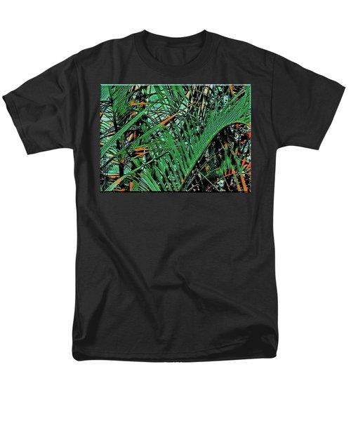 Men's T-Shirt  (Regular Fit) featuring the digital art Emerald Palms by Mindy Newman
