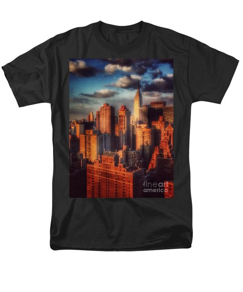 Empire State In Gold Men's T-Shirt  (Regular Fit) by Miriam Danar