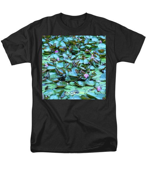Men's T-Shirt  (Regular Fit) featuring the photograph Painted Water Lilies by Theresa Tahara