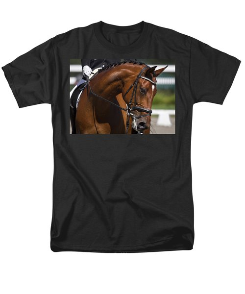 Men's T-Shirt  (Regular Fit) featuring the photograph Equestrian At Work D4913 by Wes and Dotty Weber