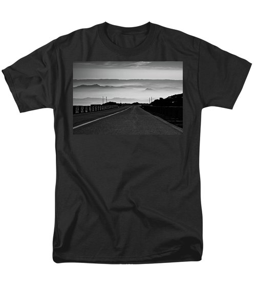 Men's T-Shirt  (Regular Fit) featuring the photograph Etna Road by Bruno Spagnolo