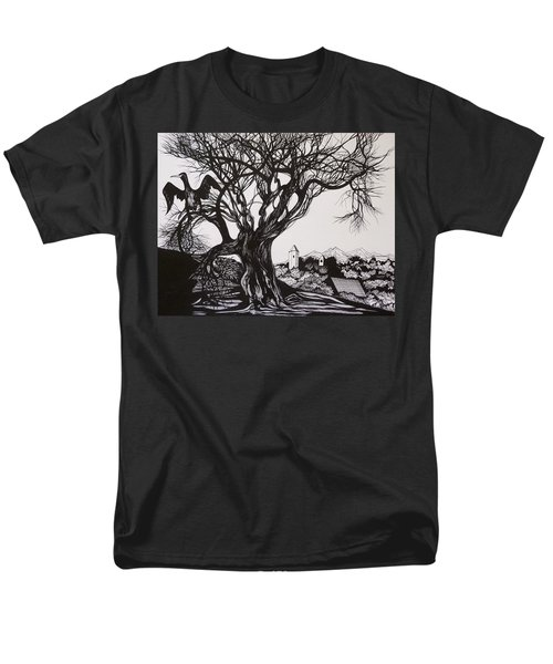 Men's T-Shirt  (Regular Fit) featuring the drawing Evening In Midnapore by Anna  Duyunova