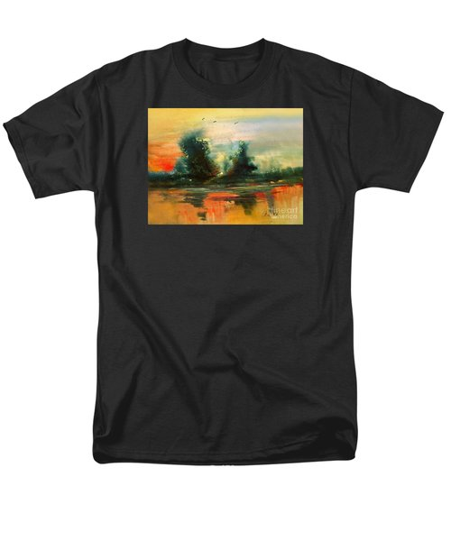 Men's T-Shirt  (Regular Fit) featuring the painting Evening Light by Allison Ashton