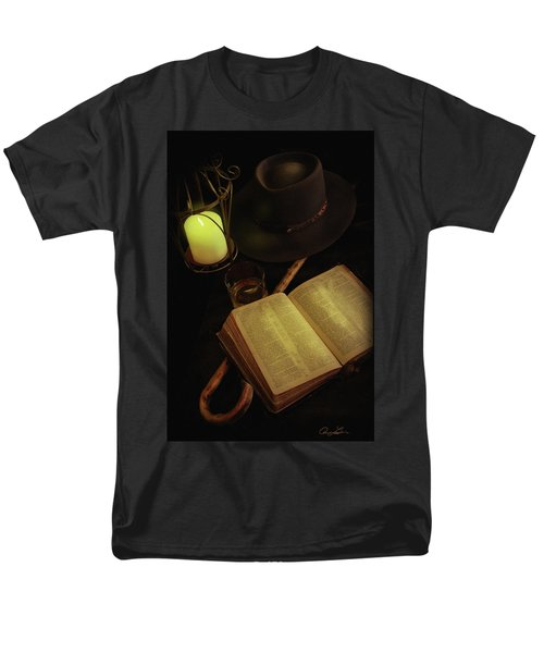 Men's T-Shirt  (Regular Fit) featuring the photograph Evening Reading by Ann Lauwers