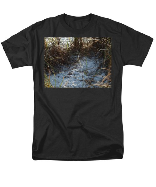 Men's T-Shirt  (Regular Fit) featuring the photograph Everything Grows In The Sand by Robert Margetts