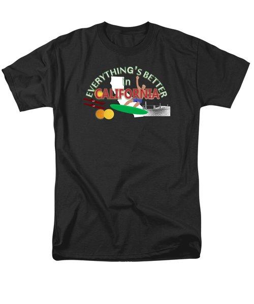 Everything's Better In California Men's T-Shirt  (Regular Fit) by Pharris Art