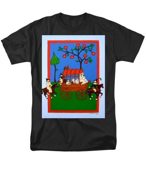 Men's T-Shirt  (Regular Fit) featuring the painting Expulsion Of The Jews For M Spain by Stephanie Moore
