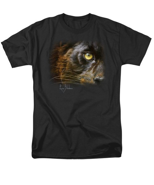 Eye Of The Panther Men's T-Shirt  (Regular Fit) by Lucie Bilodeau
