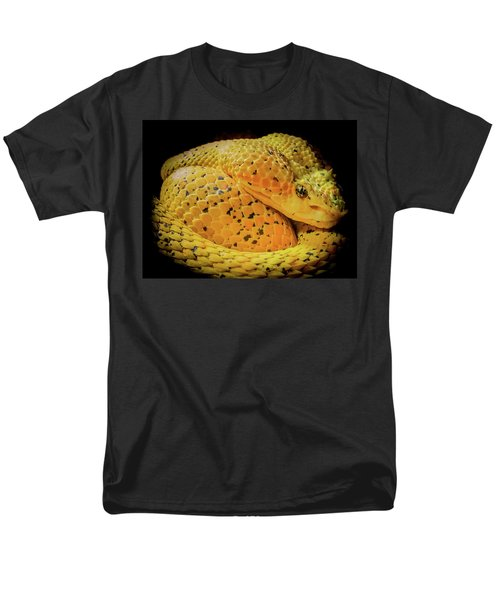 Eyelash Viper Men's T-Shirt  (Regular Fit) by Karen Wiles