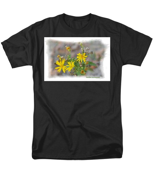 Men's T-Shirt  (Regular Fit) featuring the photograph Fall Bloom In Texas I by Carolina Liechtenstein