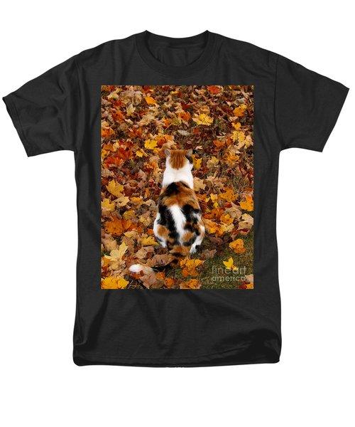 Fall Catitude  Men's T-Shirt  (Regular Fit) by Christy Ricafrente