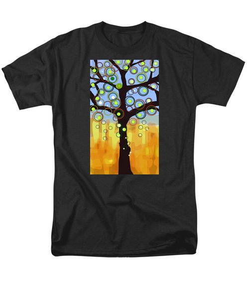 Men's T-Shirt  (Regular Fit) featuring the painting Fall Circles by Patricia Arroyo