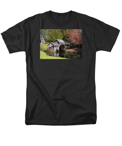 Fall Colors At Mabry Mill Blue Ridge Parkway Men's T-Shirt  (Regular Fit) by Nature Scapes Fine Art