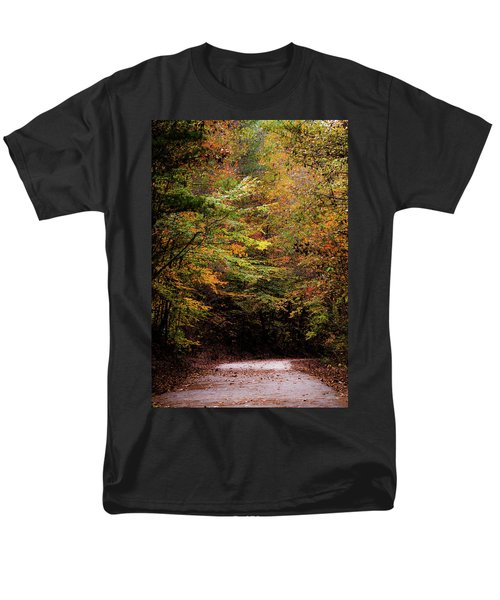 Men's T-Shirt  (Regular Fit) featuring the photograph Fall Colors On The Trail by Shelby Young