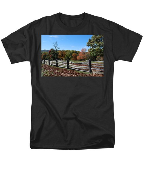 Fall Fence Men's T-Shirt  (Regular Fit) by Eric Liller