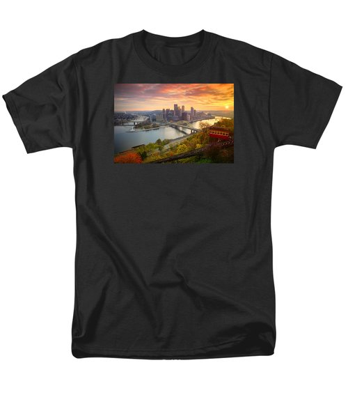 Fall Pittsburgh Skyline  Men's T-Shirt  (Regular Fit) by Emmanuel Panagiotakis