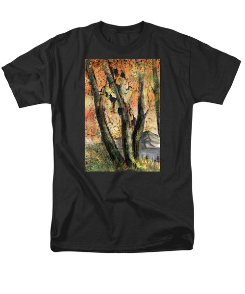 Men's T-Shirt  (Regular Fit) featuring the painting Fall Splendor  by Annette Berglund