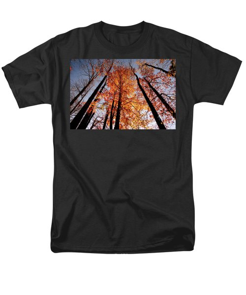 Men's T-Shirt  (Regular Fit) featuring the photograph Fall Trees Sky by Meta Gatschenberger