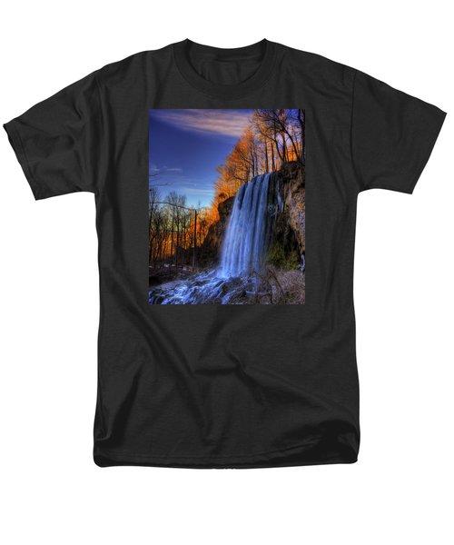 Falling Spring Falls Men's T-Shirt  (Regular Fit) by Steve Hurt