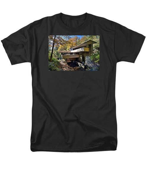 Fallingwater Pennsylvania - Frank Lloyd Wright Men's T-Shirt  (Regular Fit) by Brendan Reals