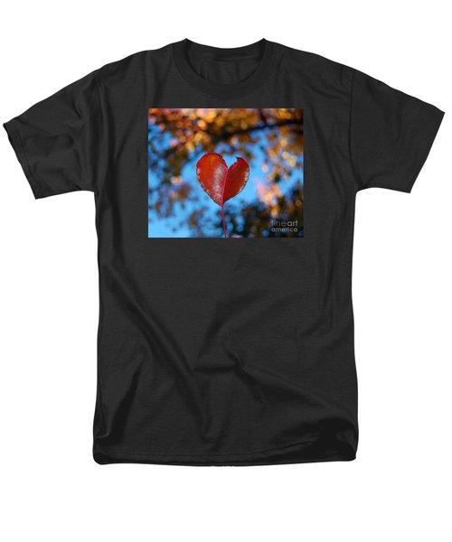 Fall's Heart Men's T-Shirt  (Regular Fit) by Debra Thompson