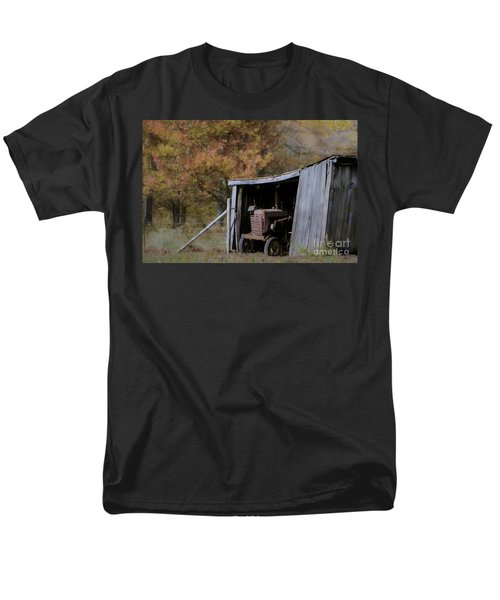 Men's T-Shirt  (Regular Fit) featuring the photograph Farmall Tucked Away by Benanne Stiens