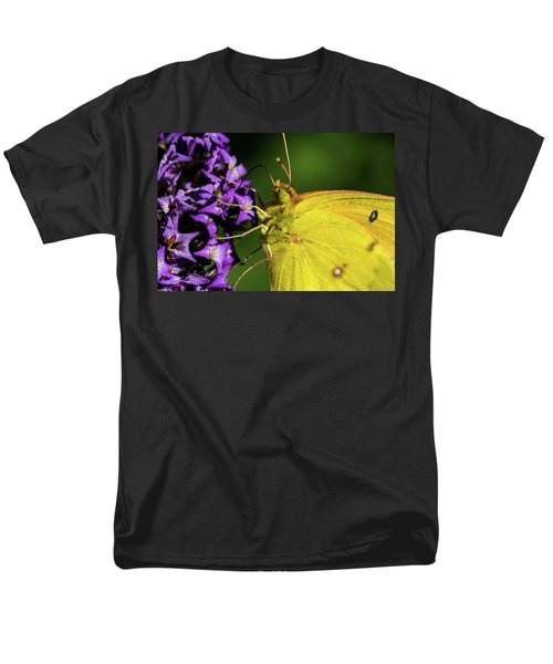 Men's T-Shirt  (Regular Fit) featuring the photograph Feeding Butterfly by Jay Stockhaus