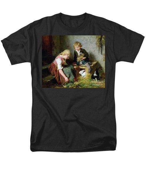 Feeding The Rabbits Men's T-Shirt  (Regular Fit) by Felix Schlesinger