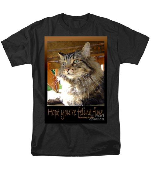 Men's T-Shirt  (Regular Fit) featuring the photograph Feline Fine by Marianne NANA Betts