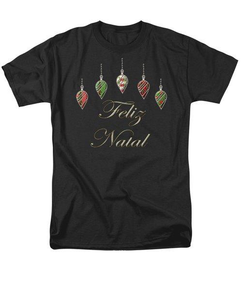 Feliz Natal Portuguese Merry Christmas Men's T-Shirt  (Regular Fit) by Movie Poster Prints