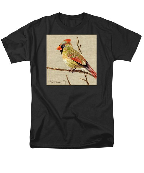 Men's T-Shirt  (Regular Fit) featuring the painting Female Cardinal by Bob Coonts