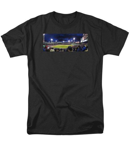 Fenway Night Men's T-Shirt  (Regular Fit) by Rick Berk
