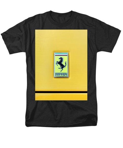 Ferrari Badge Men's T-Shirt  (Regular Fit) by Theresa Tahara